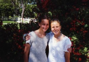 lisa and i at 8th grade graduation