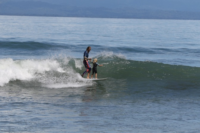 Teaching a Toddler to Surf